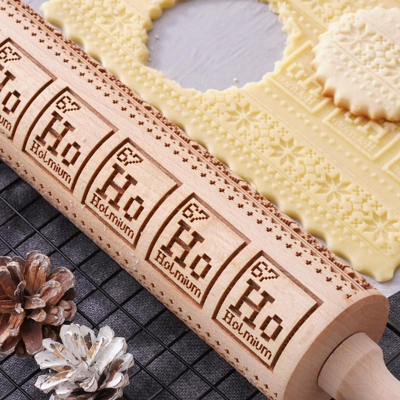 Pastrymade CHEMISTRY ROLLING PIN Pastry Tool and Baking Utensil for Homemade Cookies