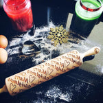 Pastrymade MERRY CHRISTMAS ROLLING PIN Pastry Tool and Baking Utensil for Homemade Cookies