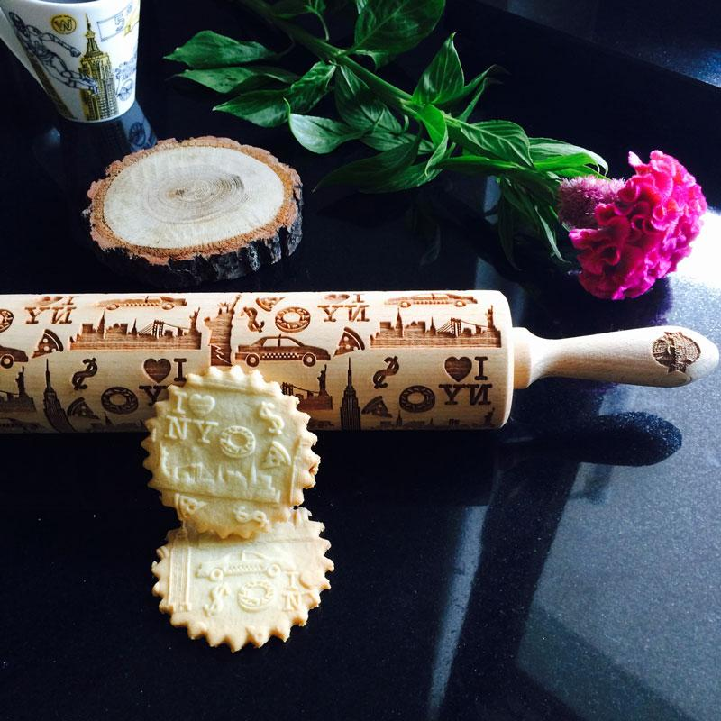 Pastrymade NEW YORK ROLLING PIN Pastry Tool and Baking Utensil for Homemade Cookies
