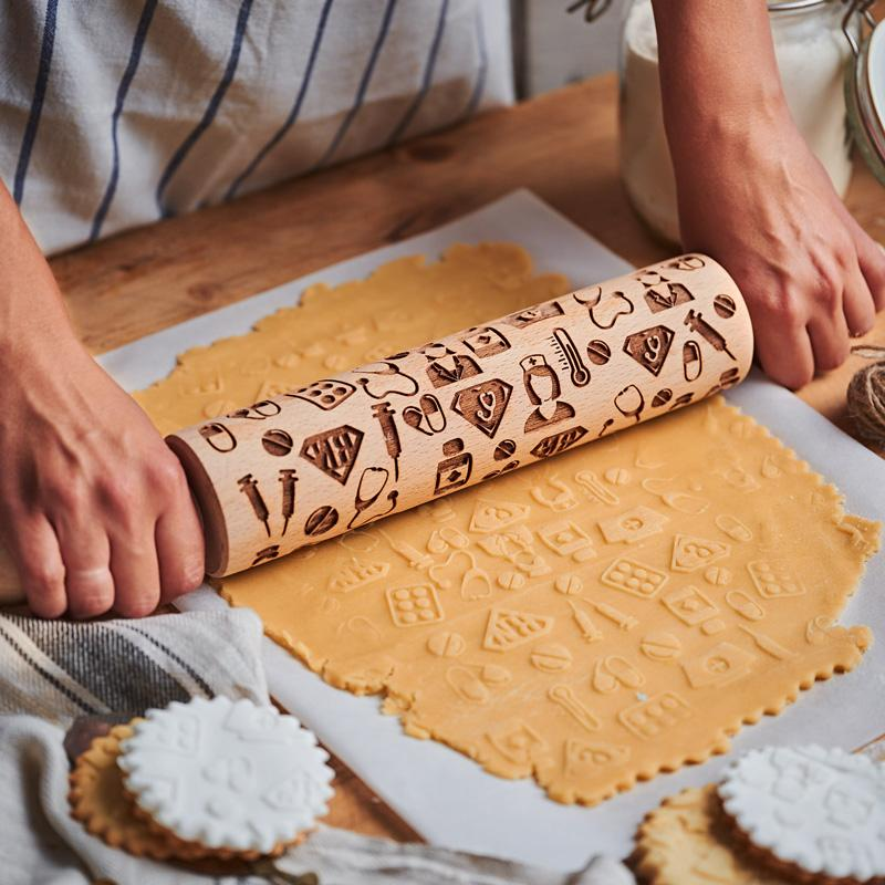 Pastrymade NURSE ROLLING PIN Pastry Tool and Baking Utensil for Homemade Cookies
