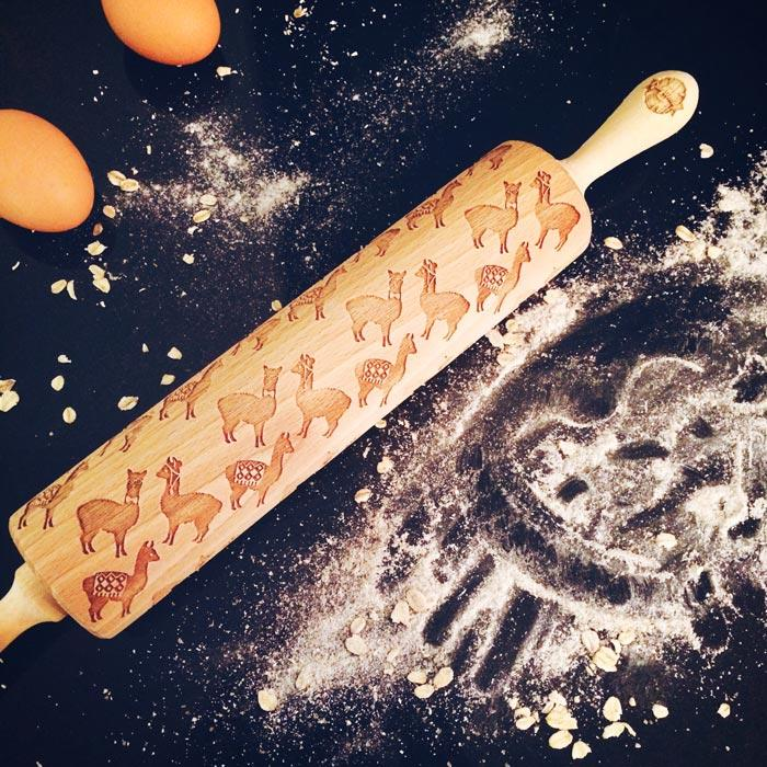 Pastrymade ALPACAS ROLLING PIN Pastry Tool and Baking Utensil for Homemade Cookies