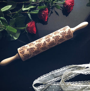 Pastrymade ROSES ROLLING PIN Pastry Tool and Baking Utensil for Homemade Cookies