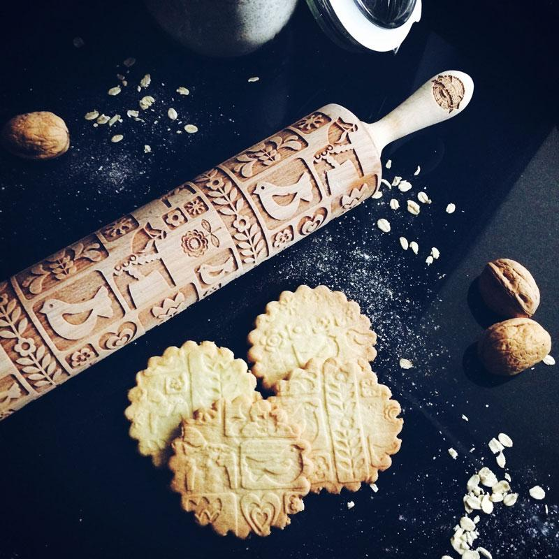 Pastrymade SCANDINAVIAN ROLLING PIN Pastry Tool and Baking Utensil for Homemade Cookies