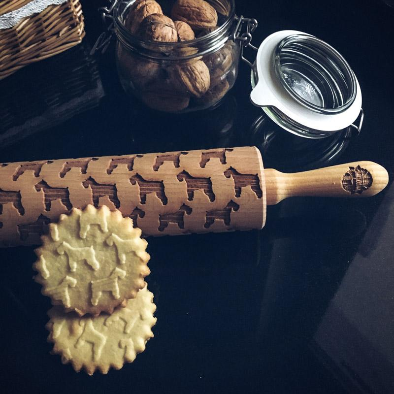 Pastrymade SCHNAUZER ROLLING PIN Pastry Tool and Baking Utensil for Homemade Cookies