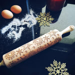 Pastrymade SNOWFLAKES ROLLING PIN Pastry Tool and Baking Utensil for Homemade Cookies