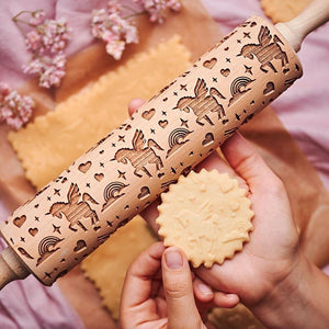 Pastrymade UNICORN ROLLING PIN Pastry Tool and Baking Utensil for Homemade Cookies