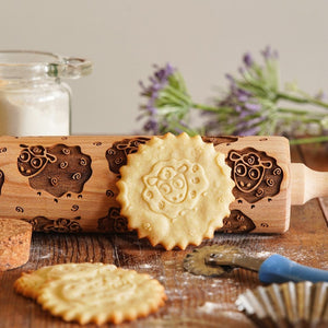 Pastrymade THE SHEEP ROLLING PIN Pastry Tool and Baking Utensil for Homemade Cookies