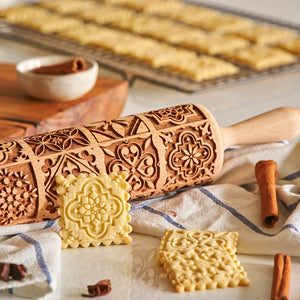 Pastrymade VINTAGE ROLLING PIN Pastry Tool and Baking Utensil for Homemade Cookies