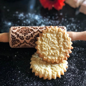 Pastrymade DAMASK KIDS ROLLING PIN Pastry Tool and Baking Utensil for Homemade Cookies