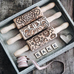 Pastrymade BAKE SET OF 3 ROLLING PINS Pastry Tool and Baking Utensil for Homemade Cookies