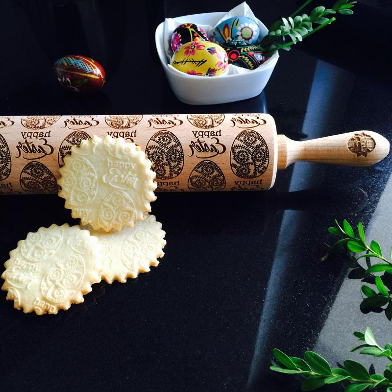Pastrymade BIG EASTER EGG ROLLING PIN Pastry Tool and Baking Utensil for Homemade Cookies