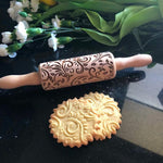 Pastrymade SPRING KIDS ROLLING PIN Pastry Tool and Baking Utensil for Homemade Cookies