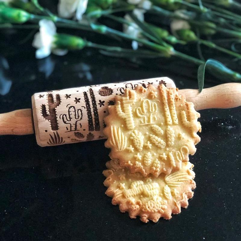 Pastrymade CACTUS KIDS ROLLING PIN Pastry Tool and Baking Utensil for Homemade Cookies