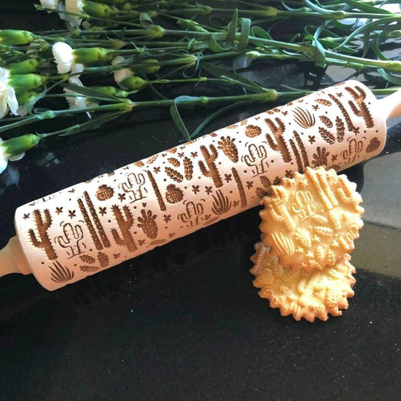Pastrymade CACTUS ROLLING PIN Pastry Tool and Baking Utensil for Homemade Cookies