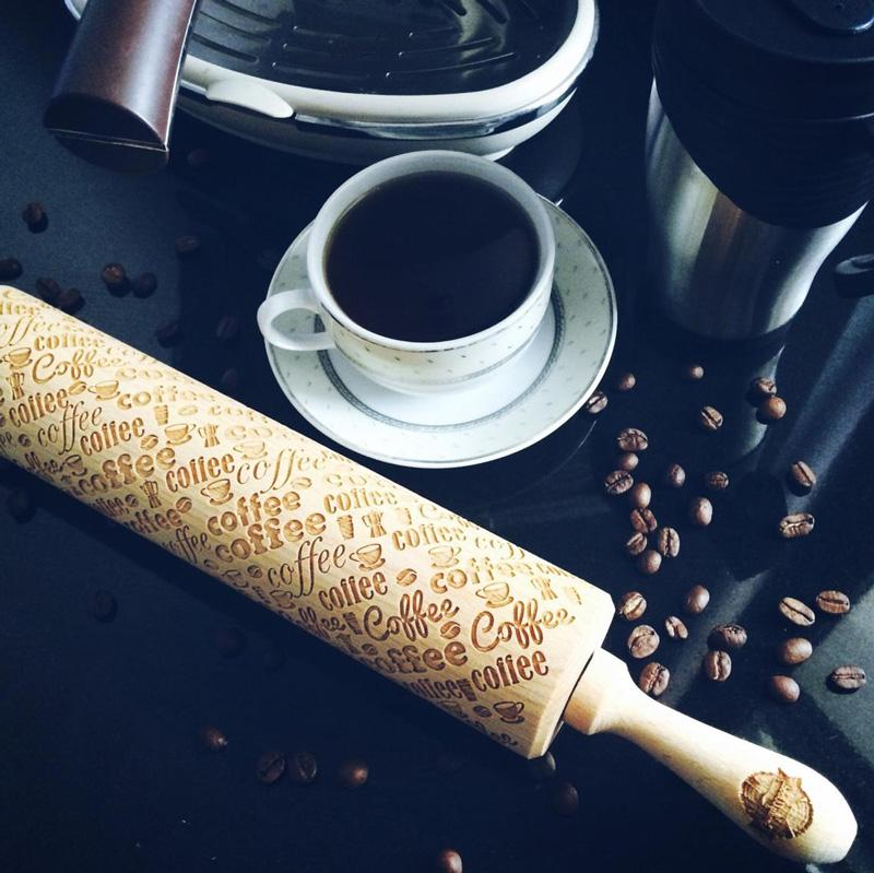 Pastrymade COFFEE ROLLING PIN Pastry Tool and Baking Utensil for Homemade Cookies