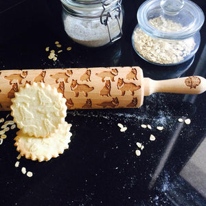 Pastrymade COLLIE ROLLING PIN Pastry Tool and Baking Utensil for Homemade Cookies