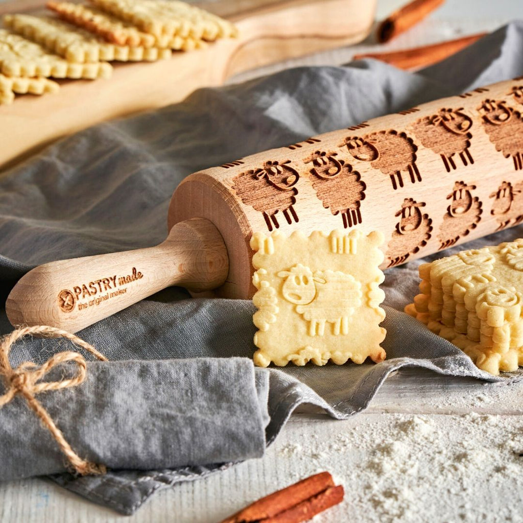 Pastrymade SHEEP ROLLING PIN Pastry Tool and Baking Utensil for Homemade Cookies