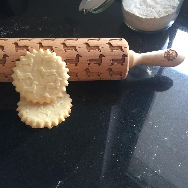 Pastrymade DACHSHUNDS ROLLING PIN Pastry Tool and Baking Utensil for Homemade Cookies