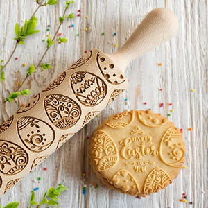 Pastrymade EASTER 3D ROLLING PIN Pastry Tool and Baking Utensil for Homemade Cookies