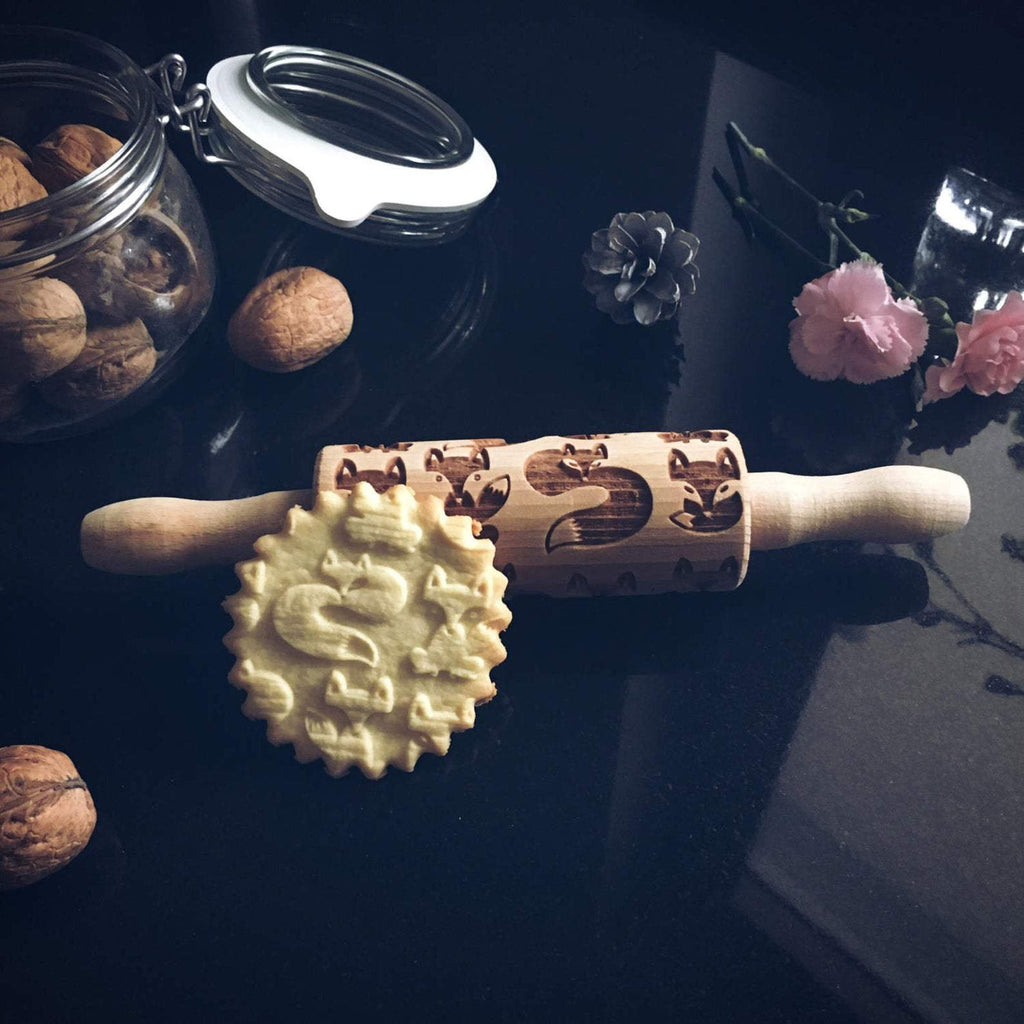 Pastrymade FOX KIDS ROLLING PIN Pastry Tool and Baking Utensil for Homemade Cookies