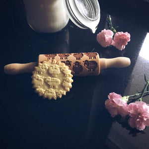 Pastrymade SHEEP KIDS ROLLING PIN Pastry Tool and Baking Utensil for Homemade Cookies