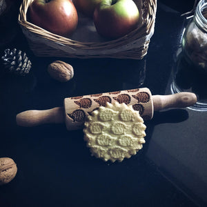 Pastrymade HEDGEHOG KIDS ROLLING PIN Pastry Tool and Baking Utensil for Homemade Cookies