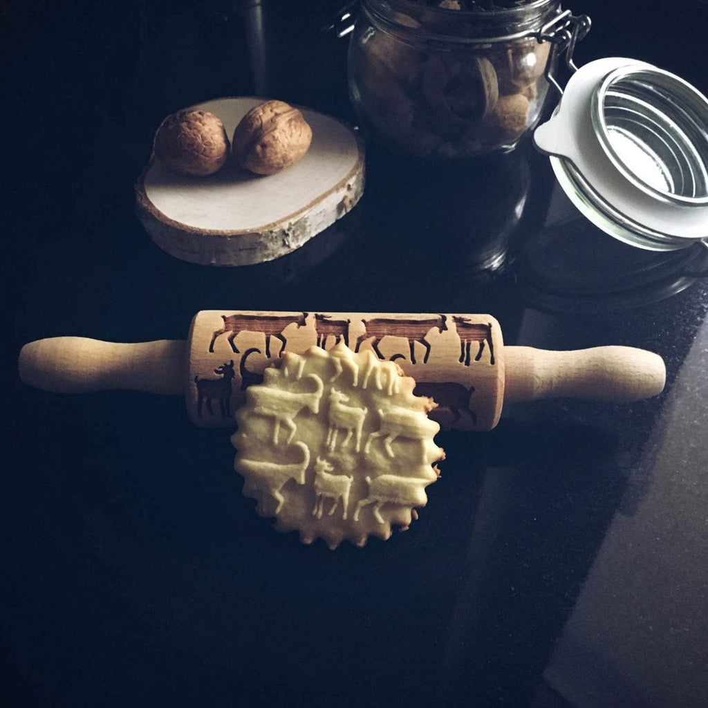 Pastrymade GOATS KIDS ROLLING PIN Pastry Tool and Baking Utensil for Homemade Cookies