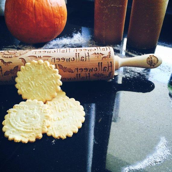 Pastrymade HALLOWEEN ROLLING PIN Pastry Tool and Baking Utensil for Homemade Cookies
