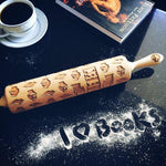 Pastrymade BOOKS ROLLING PIN Pastry Tool and Baking Utensil for Homemade Cookies