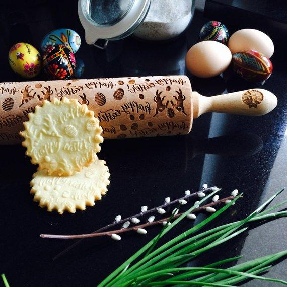 Pastrymade EASTER BUNNY ROLLING PIN Pastry Tool and Baking Utensil for Homemade Cookies