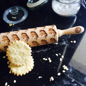 Pastrymade BISON ROLLING PIN Pastry Tool and Baking Utensil for Homemade Cookies