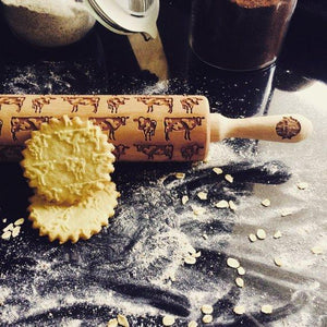 Pastrymade COWS ROLLING PIN Pastry Tool and Baking Utensil for Homemade Cookies