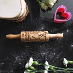 Pastrymade SCANDINAVIAN KIDS ROLLING PIN Pastry Tool and Baking Utensil for Homemade Cookies