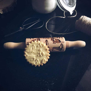 Pastrymade BASSET HOUND KIDS ROLLING PIN Pastry Tool and Baking Utensil for Homemade Cookies