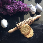 Pastrymade EASTER BUNNY KIDS ROLLING PIN Pastry Tool and Baking Utensil for Homemade Cookies