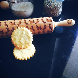 Pastrymade WEST HIGHLAND WHITE TERRIER ROLLING PIN Pastry Tool and Baking Utensil for Homemade Cookies