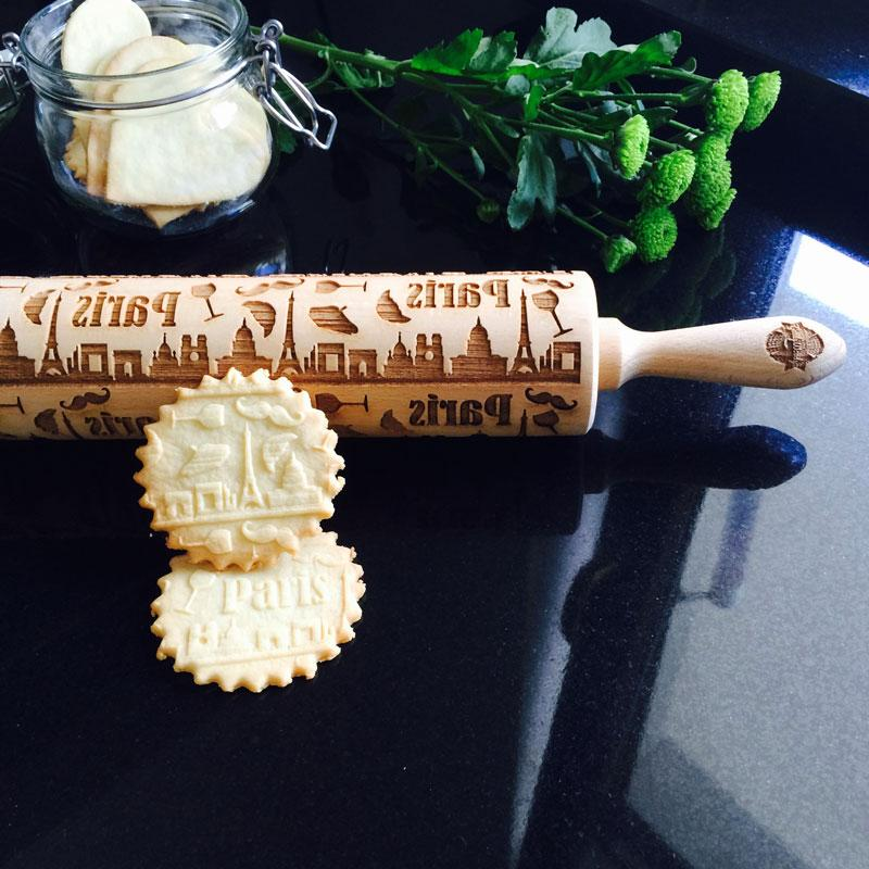 Pastrymade PARIS ROLLING PIN Pastry Tool and Baking Utensil for Homemade Cookies