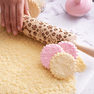 Pastrymade PAWS ROLLING PIN Pastry Tool and Baking Utensil for Homemade Cookies
