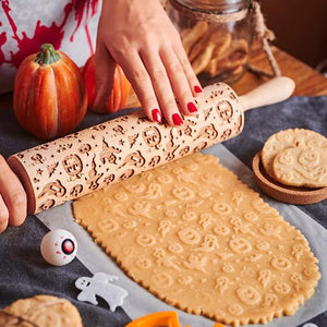 Pastrymade PEEK-A-BOO ROLLING PIN Pastry Tool and Baking Utensil for Homemade Cookies