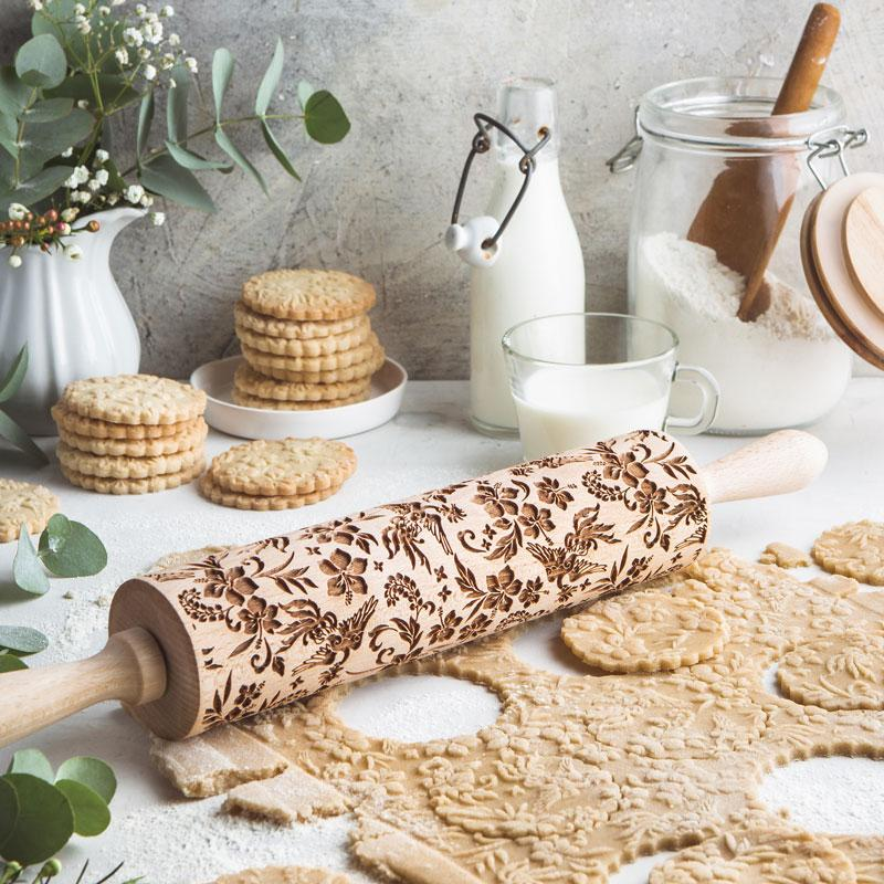 Pastrymade PEACOCK ROLLING PIN Pastry Tool and Baking Utensil for Homemade Cookies