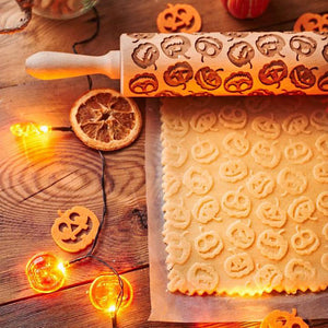 Pastrymade PUMPKIN ROLLING PIN Pastry Tool and Baking Utensil for Homemade Cookies