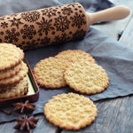 Pastrymade SNOW ROLLING PIN Pastry Tool and Baking Utensil for Homemade Cookies