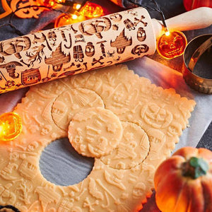Pastrymade SPOOKY ROLLING PIN Pastry Tool and Baking Utensil for Homemade Cookies