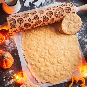 Pastrymade TRICK OR TREAT ROLLING PIN Pastry Tool and Baking Utensil for Homemade Cookies