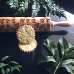 Pastrymade TROPICAL LEAVES ROLLING PIN Pastry Tool and Baking Utensil for Homemade Cookies