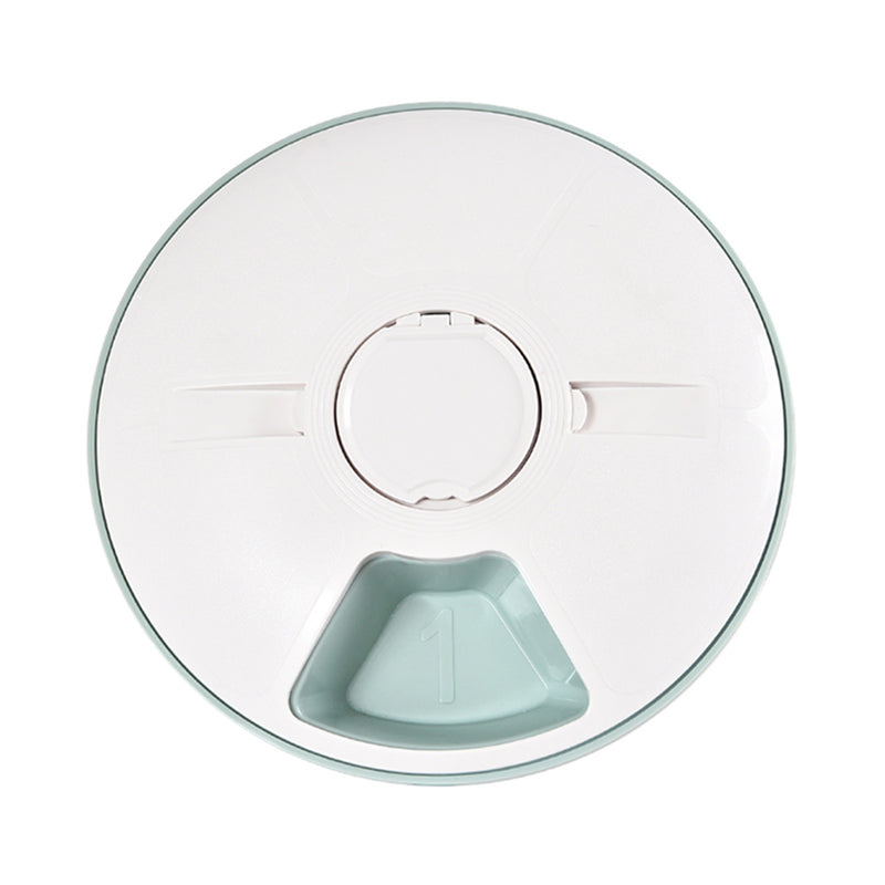 www.mypawppy.com Automatic Pawppy Pet Feeder Stylish Pet Food Time Adjustable Easy Cleaning Food Bowl Teal