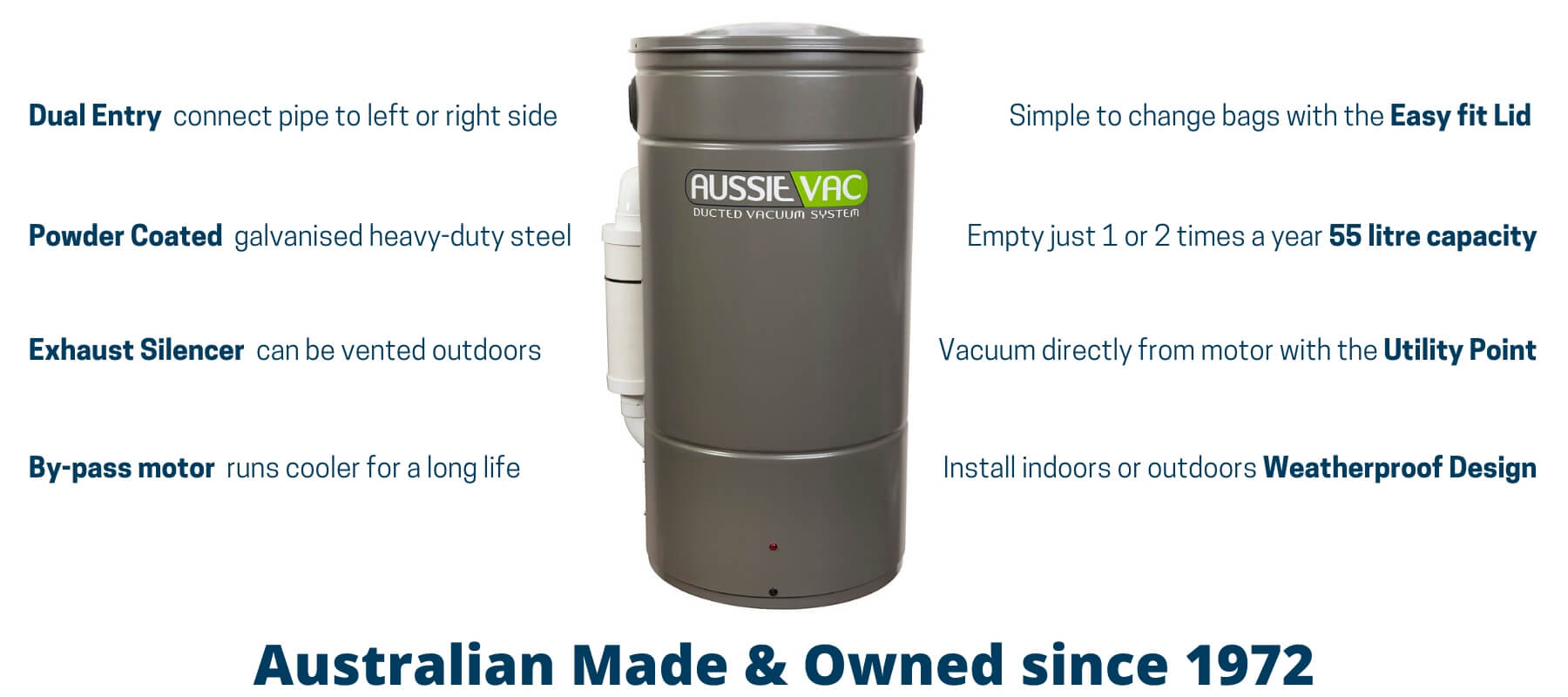 Aussie Vac Design Features