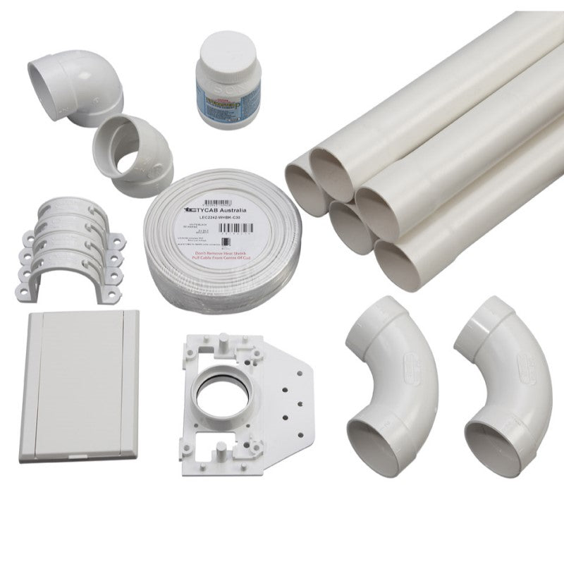 1 point ducted vacuum pipe installation kit