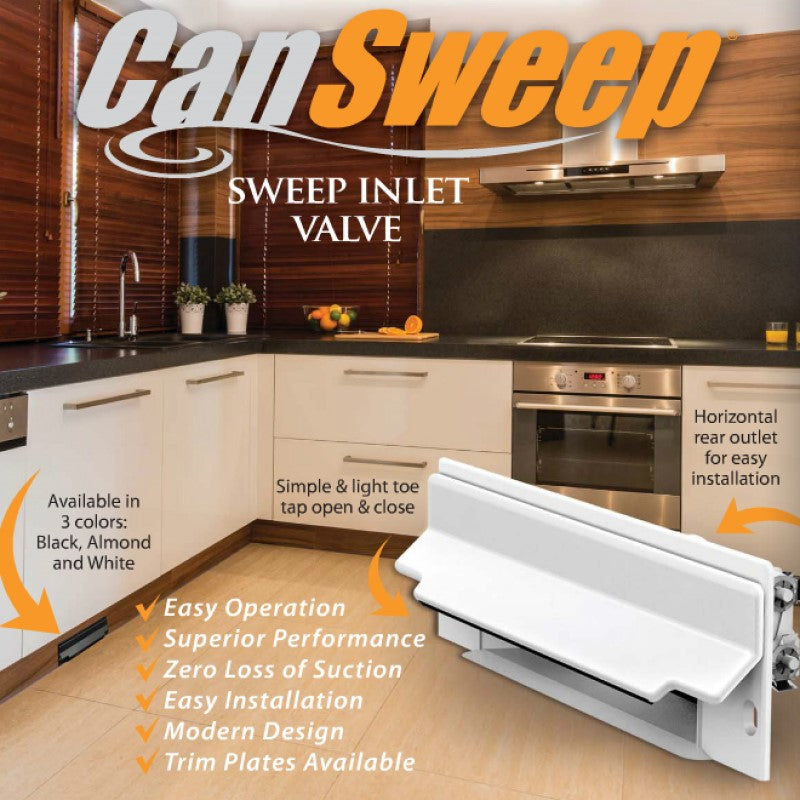 CanSweep Complete Installation Kit White