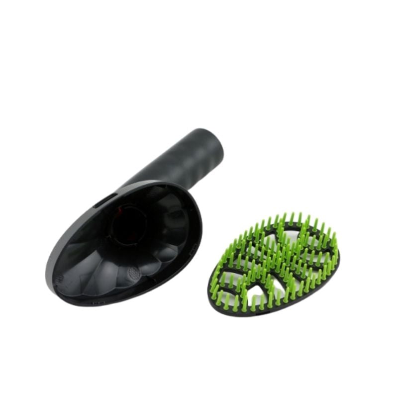 Pet grooming brush with swivel head and removable comb